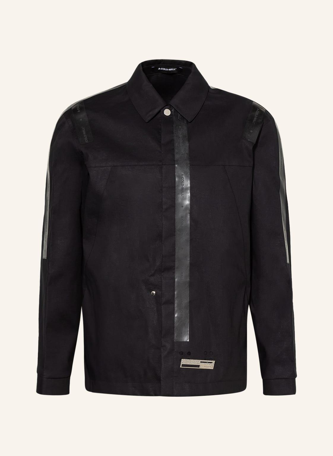 Image of A-Cold-Wall* Overshirt Mackintosh schwarz