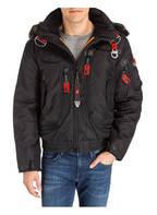 WELLENSTEYN Jacke RESCUE mit abnehmbarem Besatz in Pelzoptik, Farbe: SCHWARZ (Bild 1)