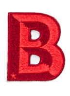 SIGN OF MINE Patch SINGLE LETTER, Farbe: BORDEAUX/ ROT (Bild 1)