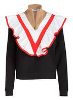 MSGM Pullover, Farbe: SCHWARZ/ ROT/ WEISS (Bild 1)