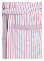 Cawö Damen-Bademantel , Farbe: WEISS/ ROSA GESTREIFT (Bild 1)