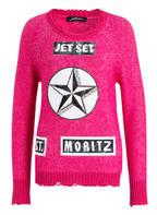 JET SET Pullover mit Badges , Farbe: PINK (Bild 1)
