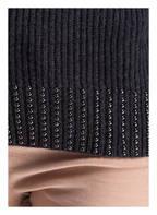MARC AUREL Rollkragenpullover mit Perlenbesatz