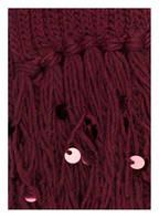 DARLING HARBOUR Schal mit Paillettenbesatz, Farbe: WEINROT (Bild 1)