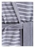 SCHIESSER Damen-Bademantel, Farbe: HELLGRAU/ WEISS GESTREIFT (Bild 1)