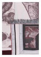 zoeppritz Plaid CLOCK , Farbe: GRAU/ ROT (Bild 1)