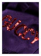 GUCCI Seide/Cashmere-Schal, Farbe: VIOLETT (Bild 1)