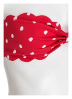 marysia Bandeau-Bikini-Top ANTIBES, Farbe: ROT/ WEISS (Bild 1)