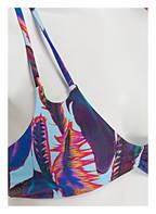 PILYQ Bustier-Bikini-Top, Farbe: HELLBLAU/ BLAU/ ROT  (Bild 1)