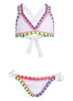 PILYQ Triangel-Bikini, Farbe: WEISS/ PINK/ GELB (Bild 1)