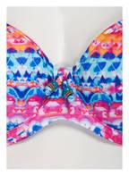 Freya Bügel-Bikini-Top CUBAN CRUCH, Farbe: BLAU/ PINK/ ORANGE (Bild 1)