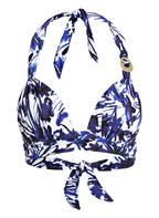 CYELL Neckholder-Bikini-Top SECRET GARDEN, Farbe: NAVY/ WEISS (Bild 1)
