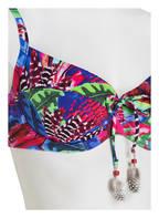 CYELL Bügel-Bikini-Top MACAW, Farbe: BLAU/ PINK/ GRÜN (Bild 1)