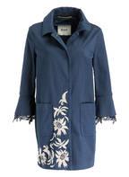 BAZAR deluxe Mantel mit Stickereien, Farbe: NAVY (Bild 1)