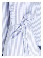 Mrs & HUGS Bluse mit Trompetenärmel , Farbe: BLAU/ WEISS GESTREIFT (Bild 1)