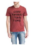 ARMEDANGELS T-Shirt JAMES GOOD THINGS, Farbe: DUNKELROT (Bild 1)