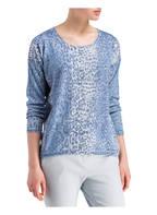 HEMISPHERE Pullover mit Seidenanteil, Farbe: BLAU (Bild 1)