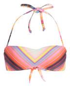 PILYQ Bandeau-Bikini-Top SUNSET, Farbe: LILA/ PINK/ GELB (Bild 1)