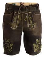 Wiesnkönig Trachten-Lederhose HERBERT, Farbe: 518 braun/hellgrün (Bild 1)
