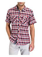 CAMP DAVID Halbarm-Hemd TOKYO Regular Fit, Farbe: ROT/ DUNKELBLAU/ OFFWHITE (Bild 1)