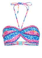 Freya Bandeau-Bikini-Top CUBAN CRUCH , Farbe: PINK/ BLAU (Bild 1)
