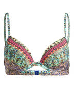 watercult Bügel-Bikini-Top MAGIC BAZAAR, Farbe: MINT/ PINK/ GRÜN (Bild 1)