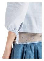 ROCKMACHERIN Bluse HANNAH, Farbe: HELLBLAU/ WEISS KARIERT (Bild 1)