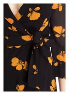 GANNI Wickelkleid GEORGETTE, Farbe: SCHWARZ/ ORANGE (Bild 1)