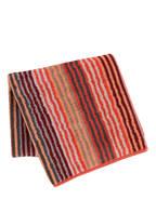 Cawö Duschtuch UNIQUE, Farbe: KORALLE/ ROT/ GRAU GESTREIFT (Bild 1)