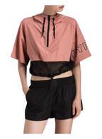 IVY PARK Cropped-Shirt mit Mesh-Einsätzen, Farbe: BRAUN/ SCHWARZ (Bild 1)