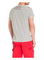 CAMP DAVID T-Shirt, Farbe: ECRU/ SCHWARZ GETREIFT (Bild 1)
