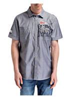 CAMP DAVID Halbarm-Hemd Regular Fit, Farbe: GRAU (Bild 1)
