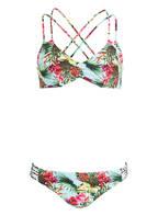 Hot Stuff Bustier-Bikini , Farbe: TÜRKIS/ GRÜN/ PINK (Bild 1)