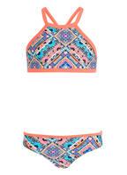 Hot Stuff High-Neck-Bikini, Farbe: KORALLE/ TÜRKIS (Bild 1)