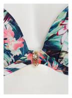watercult Bügel-Bikini-Top FLORAL CAMO, Farbe: HELLGRÜN/ DUNKELGRÜN/ PINK (Bild 1)