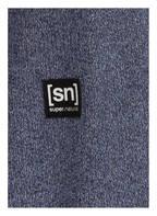 super.natural Sweatshirt VACATION KNIT CREW mit Merinowolle-Anteil, Farbe: BLAU MELIERT (Bild 1)