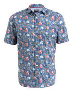 OLYMP Halbarm-Hemd Casual modern fit, Farbe: BLAU/ ROT/ OLIV (Bild 1)