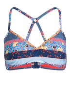 SEAFOLLY Bustier-Bikini-Top CARIBBEAN KOOL, Farbe: BLAU/ ROT/ ORANGE (Bild 1)