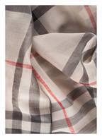 BURBERRY Schal mit Seidenanteil, Farbe: SILBER/ ROT/ CREME (Bild 1)