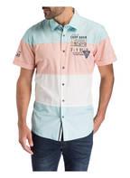 CAMP DAVID Halbarm-Hemd Regular Fit, Farbe: HELLBLAU/ ROSA/ WEISS (Bild 1)