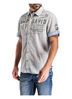 CAMP DAVID Halbarm-Hemd Regular Fit, Farbe: DUNKELBLAU/ GRAU GESTREIFT (Bild 1)