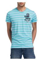 CAMP DAVID T-Shirt SKY SAILOR, Farbe: HELLBLAU/ WEISS GESTREIFT (Bild 1)