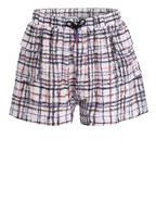 BURBERRY Seiden-Shorts, Farbe: WEISS/ SCHWARZ/ ROT (Bild 1)