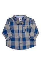 PETIT BATEAU Hemd, Farbe: HELLGRAU/ BLAU (Bild 1)