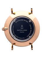 KAPTEN & SON Armbanduhr CAMPUS, Farbe: BRAUN/ WEISS/ ROSÉGOLD (Bild 1)