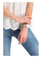 KAPTEN & SON Armbanduhr CHRONO, Farbe: BEIGE/ SILBER/ WEISS (Bild 1)