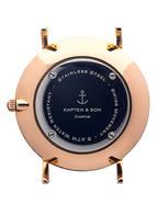 KAPTEN & SON Armbanduhr CAMPUS , Farbe: GRAU/ ROSÉGOLD/ SCHWARZ (Bild 1)
