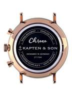 KAPTEN & SON Armbanduhr CHRONO, Farbe: SCHWARZ/ ROSÉGOLD/ SCHWARZ (Bild 1)