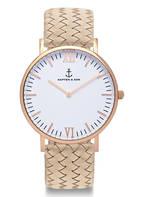 KAPTEN & SON Armbanduhr CAMPINA , Farbe: BEIGE/ ROSÉGOLD/ WEISS (Bild 1)