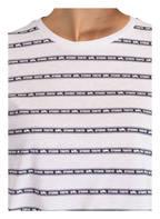 ZOE KARSSEN T-Shirt STUDIO TOKYO, Farbe: WEISS/ DUNKELBLAU (Bild 1)